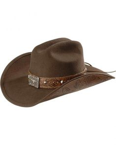 Bullhide Great Divide Wool Cowgirl Hat - just the right amount of interesting detail to match most any western wear outfit.