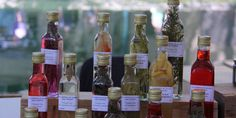 A selection of vinegars in the Cucuron market in the Luberon. #MarketsofProvence
