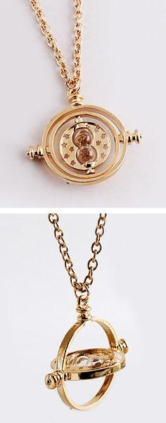 Time turner spinning necklace #harrypotter