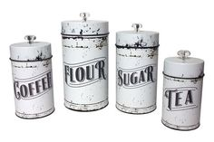 French Country Kitchen Storage Canisters