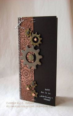IC324 Rusty Gears by Weekend Warrior - Cards and Paper Crafts at Splitcoaststampers