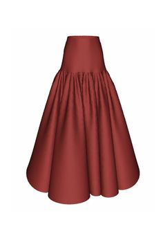 Solveig Skirt in Red Faille