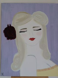 Scarlett. Original Acrylic Painting.  16x20 stretched canvas.  Perfect Home Decor. on Etsy, $175.00