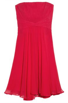 Duran gathered silk-chiffon dress by BCBGMAXAZRIA