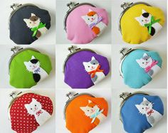 Custom kitty cat coin purse  personalize it with your own par oktak, $38.00