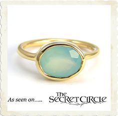 Chalcedony Vermeil Ring *as seen on The Secret Circle* by Brooklyn Designs