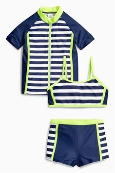 Buy Navy 3 Piece Sunsafe Suit from the Next UK online shop The Next, Next Uk, Ibiza 2016, Uk Online, 3 Piece, Online Shopping, Suits, Navy, Fitness