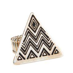 cute triangle chevron ring