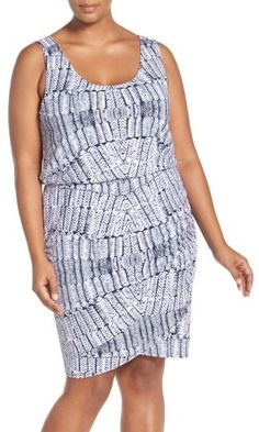 Mod Madness Fit & Flare plus size dress Nordstrom