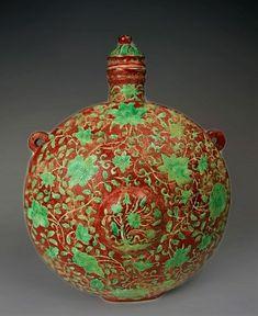 "Snuff Bottle -Ming Dynasty ""Xuande"" Reign Porcelain"