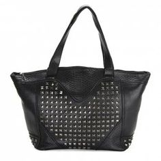 $14.22 Fashion Women's Shoulder Bag With Rivets and Crocodile Print Design