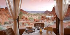 Mowani Mountain Camp offers luxury accommodation in the vast plains of Damaraland and welcomes guests to an authentic desert safari in Namibia Open The Map, Safari, Camping Places, Romantic Destinations, Romantic Getaway, Walking In Nature, Travel Agency, Luxury Travel, Luxury Hotels