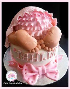 Baby Bum cake. baby Shower cake