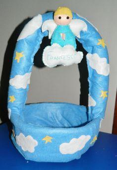 cesto per confetti o prodotti per la pulizia del bebè personalizzabile