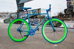 Vydz limited 'Aqua Glow' single speed bike - Vydz