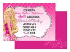 Free print barbie invitations birthday invitations printable and barbie princess digital birthday party invitation child party ideas children party themes stopboris Gallery