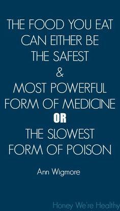 So true! Image from http://honeywerehealthy.blogspot.com #foodismedicine #health