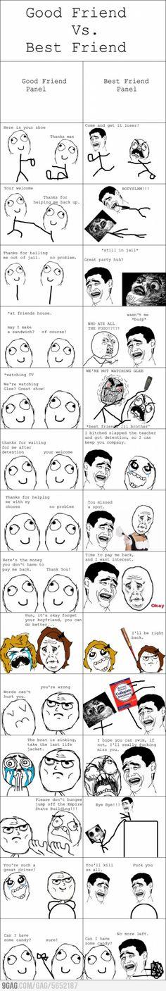 Friends vs. Best Friends Rage