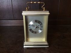 Vintage Estyma metal carriage clock glass fronted Quartz clock circa 1980's Purchase in store here http://www.europeanvintageemporium.com/product/vintage-estyma-metal-carriage-clock-glass-fronted-quartz-clock-circa-1980s/