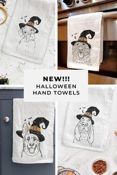 Dog Halloween, Halloween Ideas, Halloween Decorations, Modern Halloween Decor, Witch Hats, Hocus Pocus, Dachshunds, Hand Towels, Pumpkin Spice