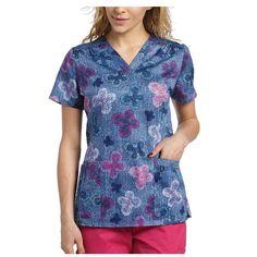 {XS} White Cross Women's Medical Uniform Denim Wings Scrub Top 706DMW 807715690829   eBay