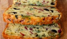 : Olive, Bacon and Cheese Bread - Recipes Food Homemade Cake Recipes, Best Cake Recipes, My Best Recipe, Whole Food Recipes, Cake Recipe From Scratch Easy, Breakfast Bread Recipes, Good Food, Yummy Food, Cheese Bread