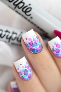 Marine Loves Polish: Watercolor Nail Art with Sharpies?! / Maniswap with Souchka! [VIDEO TUTORIAL] - Sharpie nail art