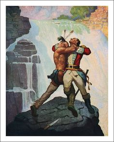 James Fenimore Cooper, The Last of the Mohicans,  A narrative from 1757, published by Charles Scribner's Sons, 1919, illustrator Newell Convers Wyeth.
