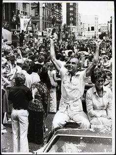 Jack Ramsay celebrates the Portland Trail Blazers 1977 Championship