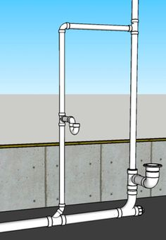 How To Plumb a Bathroom (with multiple diagrams) - Hammerpedia Looking For More Visit The Below Site Bathtub Plumbing, Pex Plumbing, Plumbing Drains, Bathroom Sink Drain, Small Bathroom, Bathroom Fixtures, Bathrooms, Residential Plumbing, Plumbing Installation