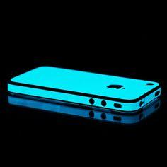 Blue Glow in the Dark iPhone case