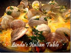 Recipe of the Month July: Amalfi Clams http://www.lindasitaliantable.com/recipe-of-the-month-july-amalfi-clams/