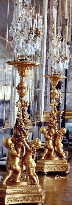 A Touch of Luxe - Baroque cherub candelabras