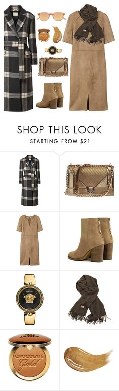 """""""Untitled #2518"""" by ebramos ❤ liked on Polyvore featuring By Malene Birger, Christian Dior, MANGO, rag & bone, Versace, Acne Studios, Too Faced Cosmetics and Chimi"""