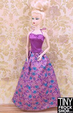 Barbie Satin and Print Skirt Evening Dress