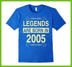 Mens Legends Are Born in 2005 Birthday Gift Shirt Medium Royal Blue