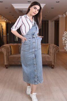9cf2fac74e602 Kot Slopet Elbise - SpringStore Ürün Adı: Kot Slopet Elbise Kumaş Türü: %100