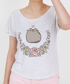 Elegant Pusheen ladies relaxed tee
