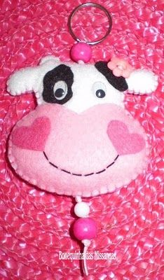 cute cow felt keyrings, and a few more other ones :)