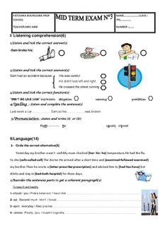 This test is about describing school, favourite techer, classmate ...