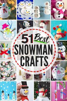 51 BEST Snowman Crafts! #snowman #crafts #snowmancrafts #snowmancraftideas #snowmanideas #snowmencraft #DIYsnowman #snowmanpainting #snowmanornaments #snowmankidscrafts #snowmancraftsforkidstomake #snowmanchristmastreeideas #snowmencraftsforkids #snowmanwreath #snowmanart #snowmandecorations #snowmanideas #snowmanDIY