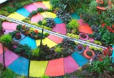 Love this!!!  There are some great ideas for yard art gardens on this web page!