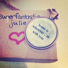 home lyric necklace by SuperFantasticJulie on Etsy, $16.00