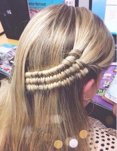 baby triple infinity pulled back Pretty Hairstyles, Braided Hairstyles, Piercings, Moda Emo, Natural Hair Styles, Long Hair Styles, Dream Hair, Crazy Hair, Gorgeous Hair