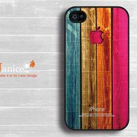 iphone 4 case iphone 4s case iphone 4 cover black iphone Verizon Sprint case colorize wood  texture  style unique Iphone case