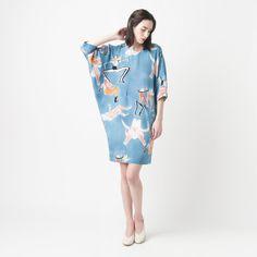 Rachel Comey Wades Wild Cat Silk Dress With A Print Designed By Masha Reva