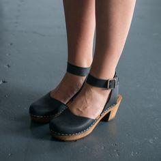 910 funkis clog high ester black vegie with brown base, clog, clogs, Sweden, swedish, design, designer, fashion, shoes, shoe, wood, wooden, fashion, Scandinavian, funkis, funkis australia