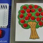 Free: A math center activity that children can play individually or in groups. Children roll the dice and remove the number of apples (red pom-poms) fro. Preschool Math, Math Classroom, Kindergarten Math, Teaching Math, Early Learning Activities, Apple Activities, Preschool Activities, Montessori, Math Stations