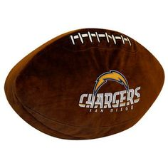 Northwest Co. NFL Chargers Throw Pillow