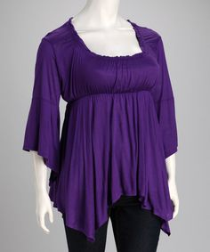Take a look at this Eggplant Grace Top - Plus on zulily today!